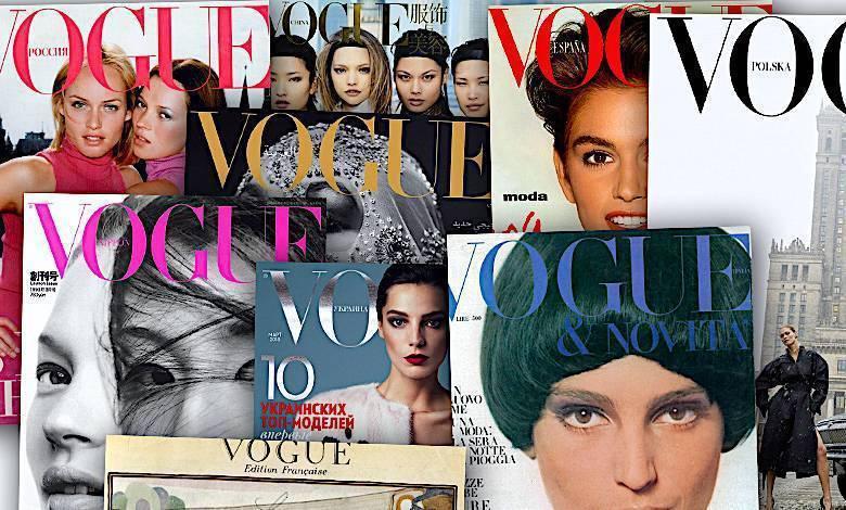 Vogue - pierwsze numery, okładki z całego świata