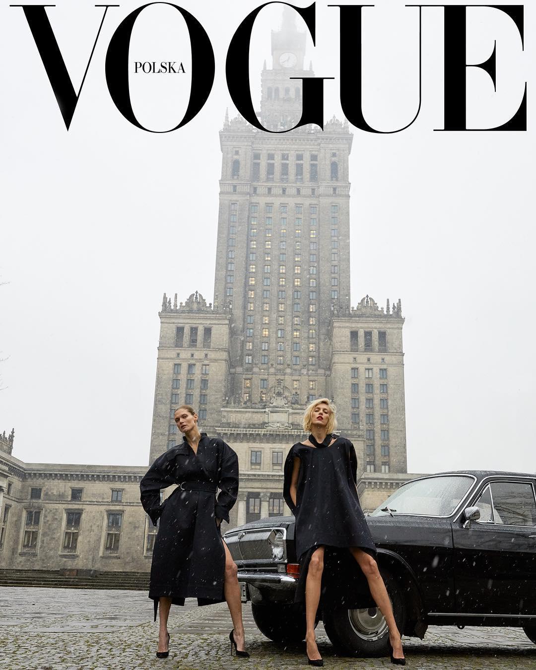 VOGUE Polska - pierwszy numer, okładka – Anja Rubik i Małgosia Bela