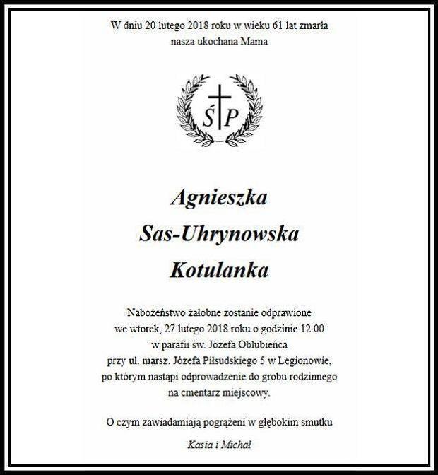 Agnieszka Kotulanka nie żyje – nekrolog opublikowany w Gazecie Wyborczej