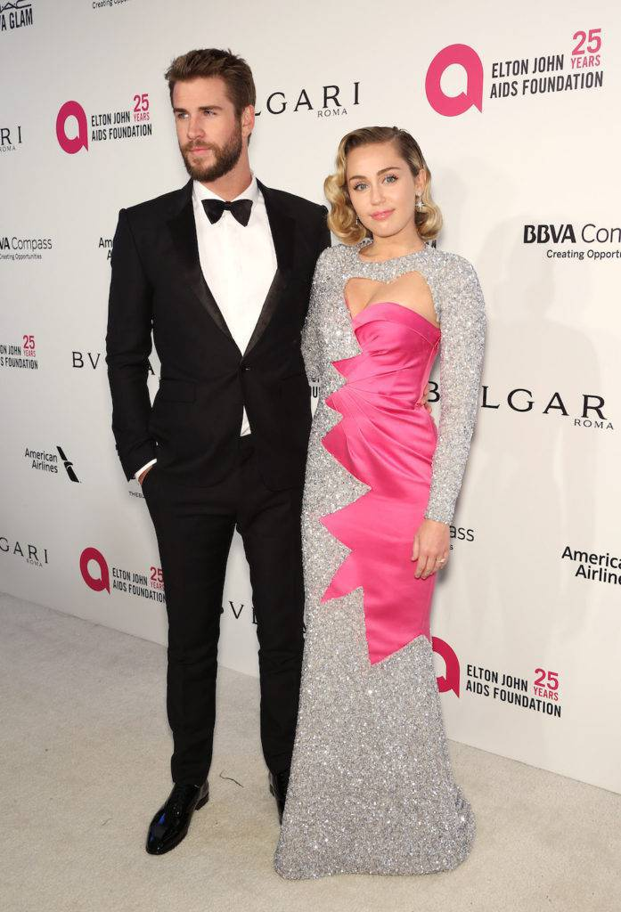 Liam Hemsworth i Miley Cyrus – Elton John AIDS Foundation Academy Awards Party 2018