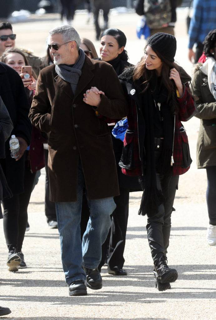 George Clooney i Amal Clooney – March For Our Lives