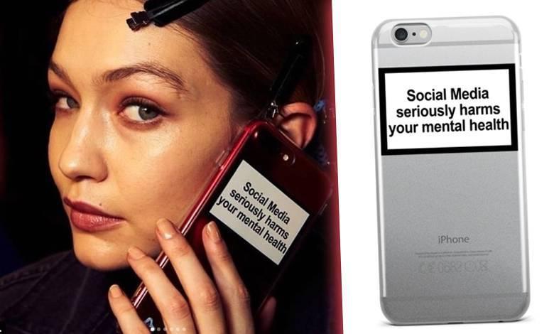 Gigi Hadid z obudową na telefon Urban Sophistication