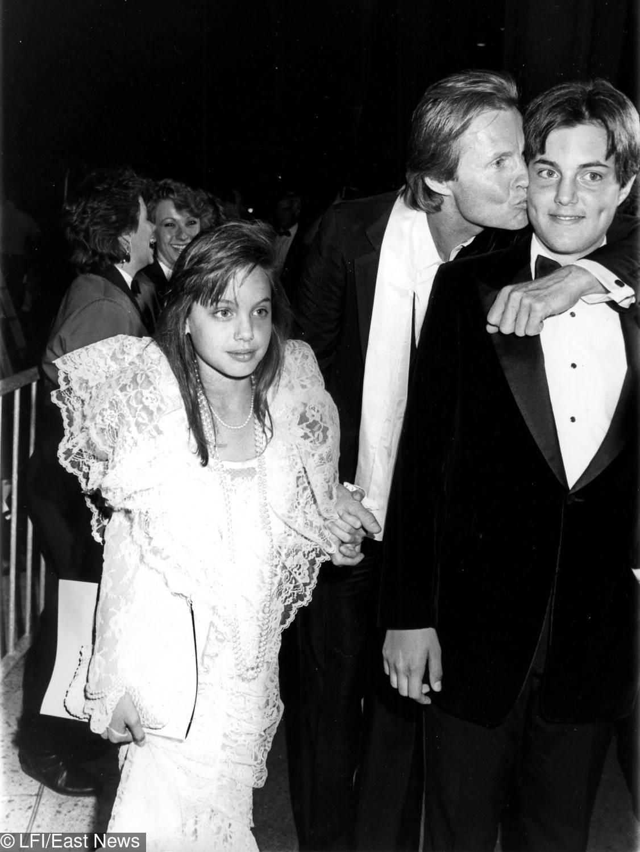 Angelina Jolie i jej ojciec Jon Voight – Oscary 1986