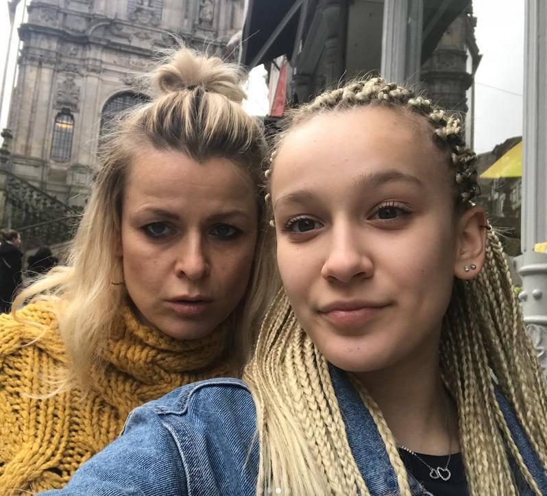 Mandaryna z córką Fabienne