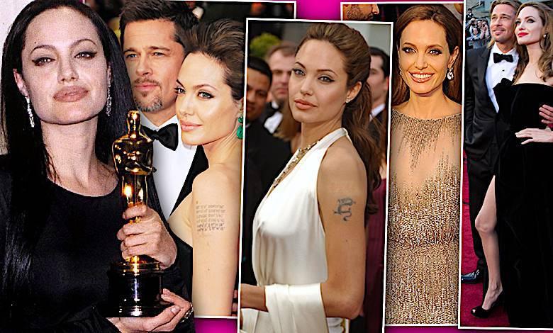 Angelina Jolie Oscary kreacje, stylizacje
