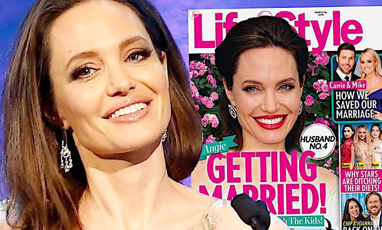 Angelina Jolie czwarty ślub z kim?