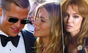 Jennifer Aniston, Angelina Jolie i Brad Pitt