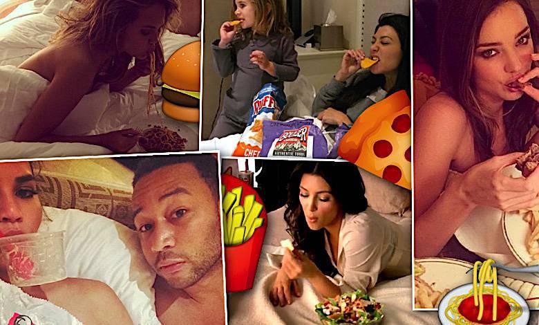 Gwiazdy jedzą w łóżku