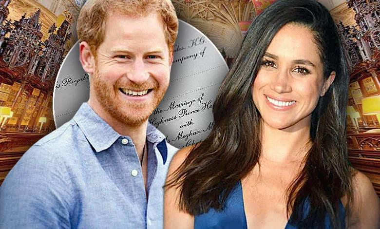Zaproszenie, ślub Harry i Meghan