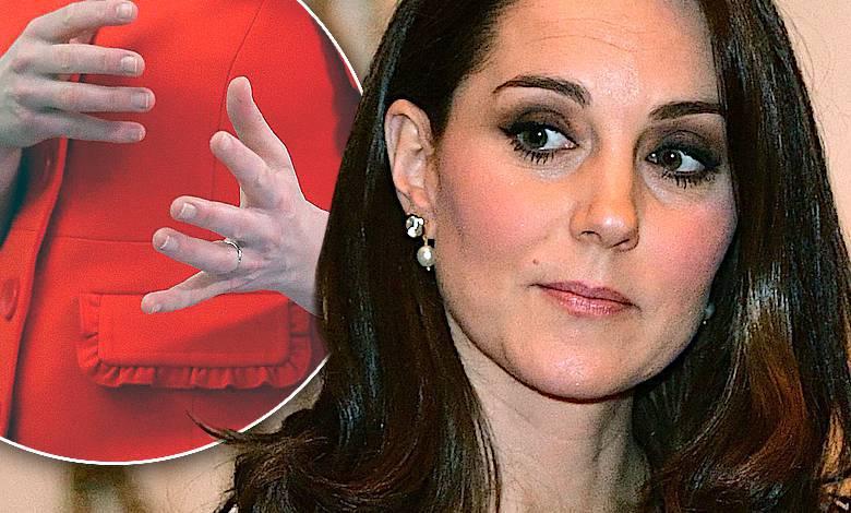 Dłonie księżnej Kate