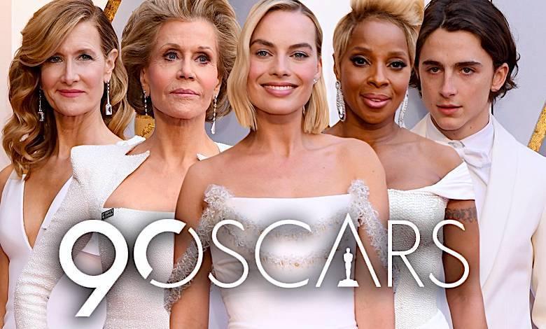 Oscary 2018 gwiazdy białe kreacje