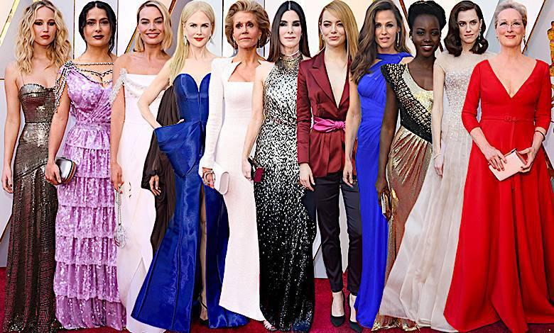 Oscary 2018 kreacje gwiazdy