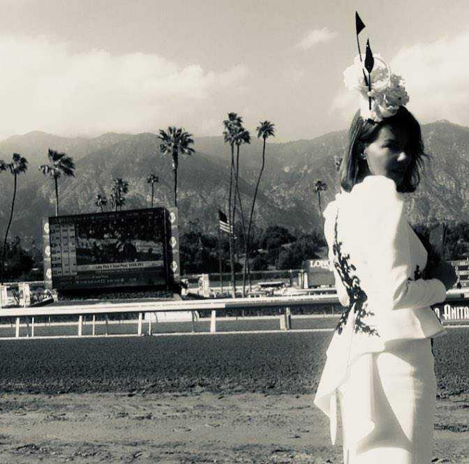 Edyta Górniak na zawodach konnych w Los Angeles