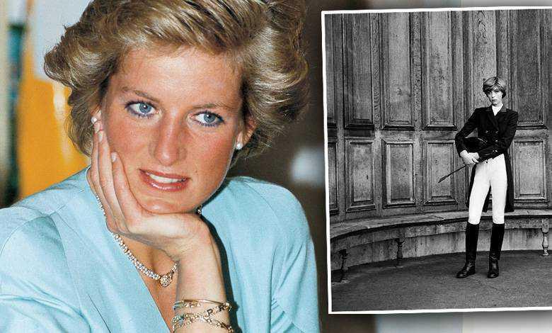 Edie Campbell jako księżna Diana w Vogue Paris