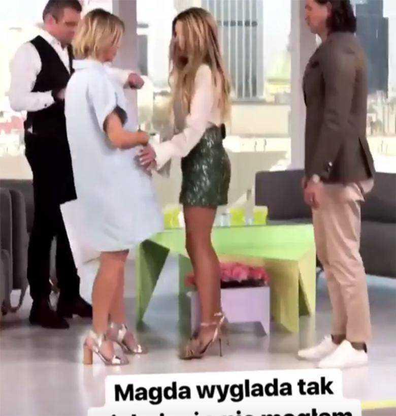 Małgorzata Rozenek pokazała jak Magda Mołek wygląda w ciąży