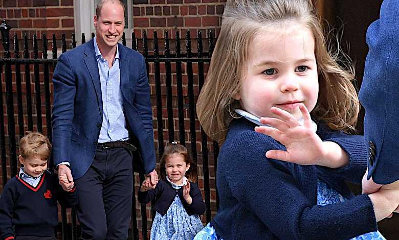 Księżniczka Charlotte, George, William