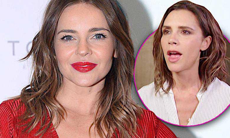 Edyta Herbuś w czerwonej sukience wygląda lepiej od Victorii Beckham