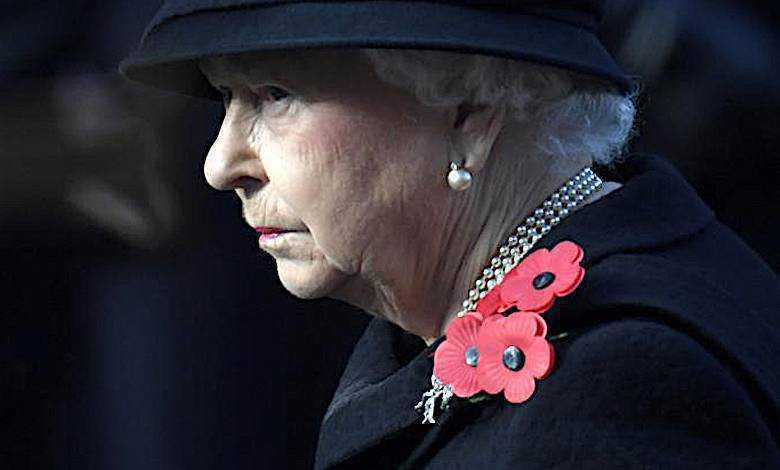 Królowa Elżbieta II żałoba