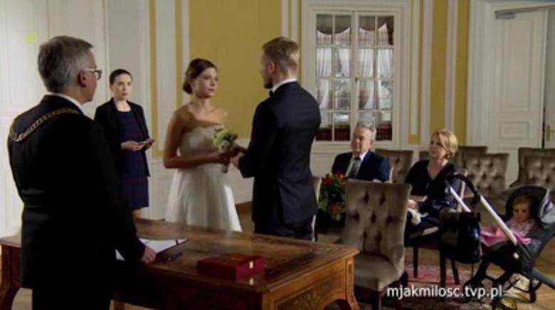 Ślub Izy i Artura w M jak miłość