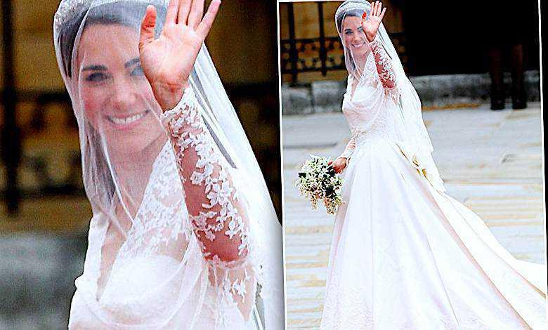 Księżna Kate replika sukni ślubnej w H&M