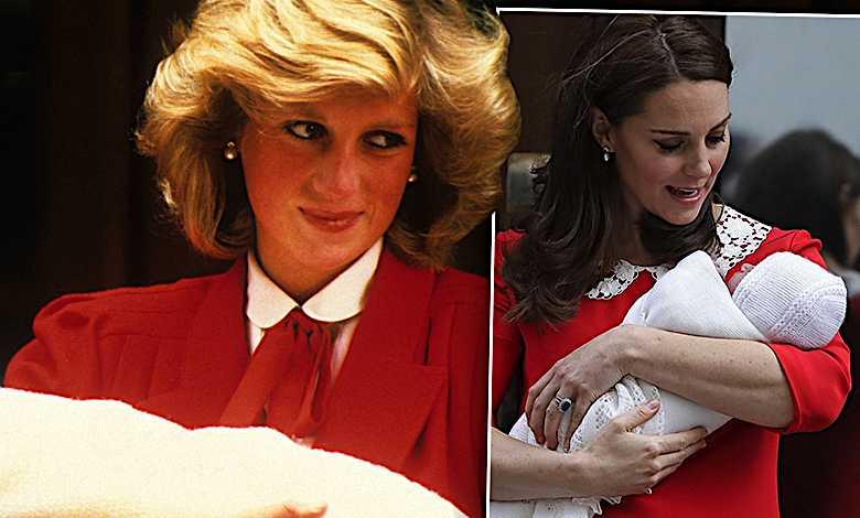 Księżna Diana i księżna Kate w takiej samej sukience
