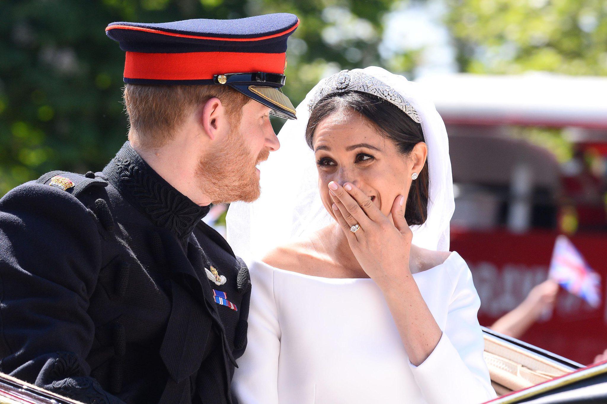 Meghan Markle i książę Harry po ślubie