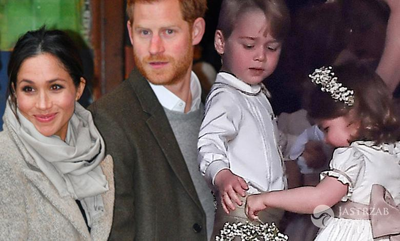 Księżniczka Charlotte i książę George na ślubie