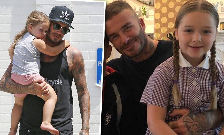 Harper Beckham złożyła ojcu życzenia