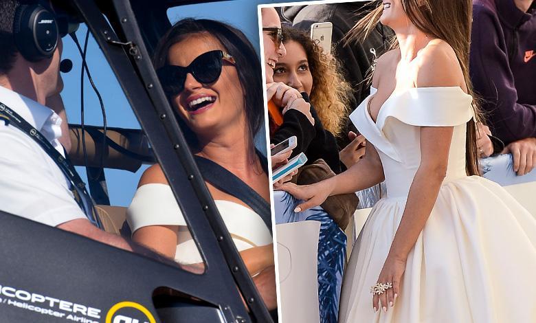 Natalia Janoszek przyleciała helikopterem na czerwony dywan w Cannes 2018