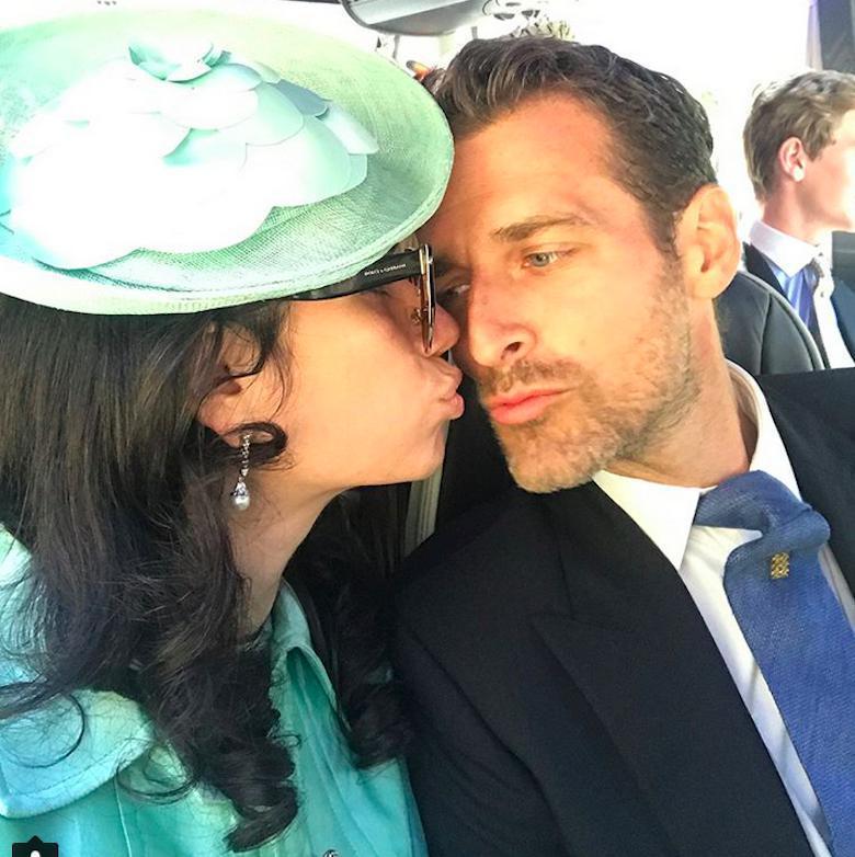 Alexi i Giada Lubomirski na ślubie Meghan Markle i księcia Harry'ego