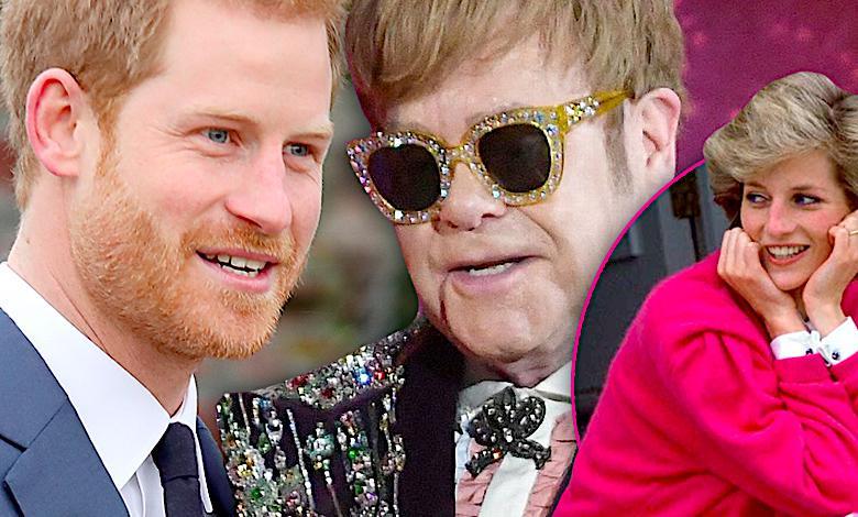 Książę Harry, księżna Diana, ślub, Elton John