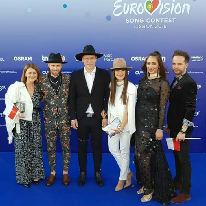 Gromee i Lukas Meijer z reprezentacją Polski na czerwonym dywanie przed Eurowizją 2018