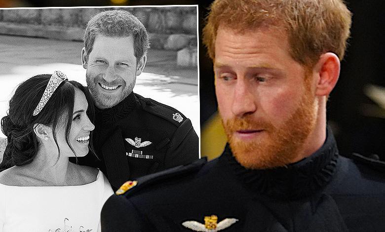 Książę Harry wpadka ze ślubnym portretem