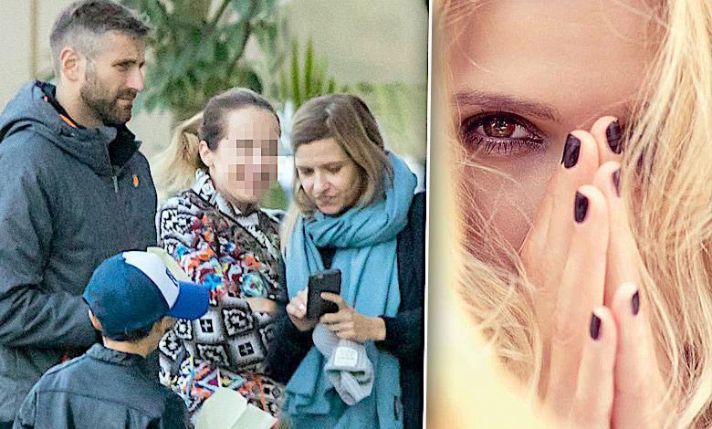 Joanna Koroniewska spacer z córkami