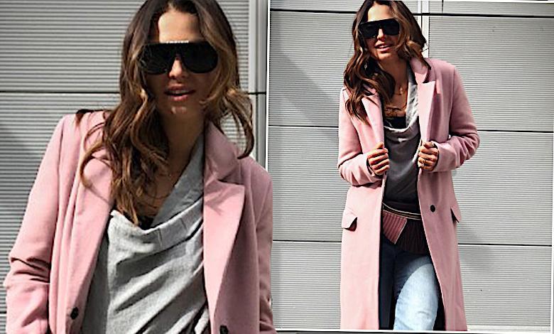 Anna Lewandowska w różowym płaszczu BeSmart