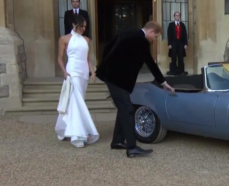 Meghan Markle w drugiej sukni ślubnej