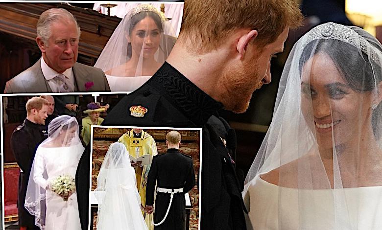 Meghan Markle i książę Harry na ślubie