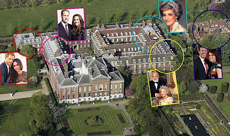 Pałac Kensington, kto mieszka, kim są sąsiedzi Kate i Williama?