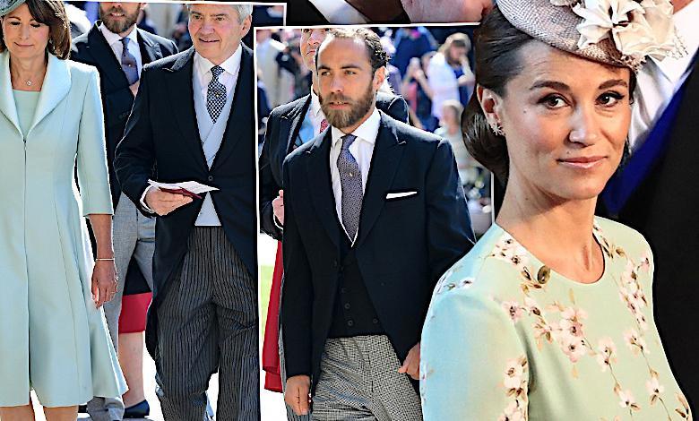 Pippa Middleton i rodzina księżnej Kate na ślubie Harry i Meghan Markle