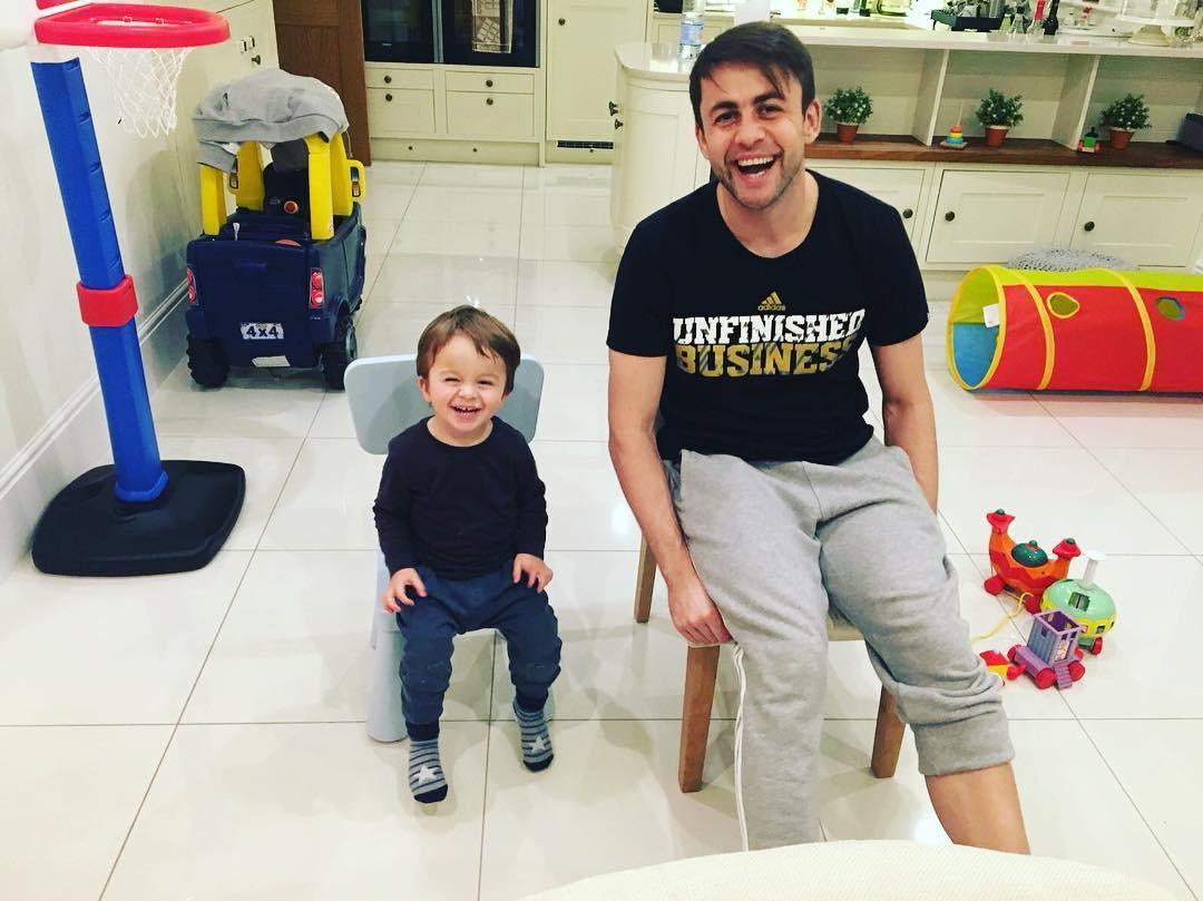 Łukasz Fabiański z synem