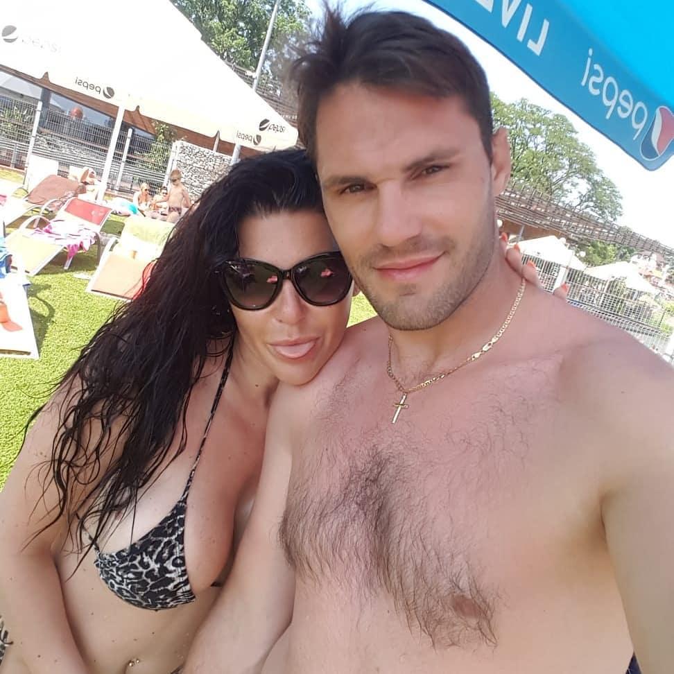 Iwona Węgrowska z partnerem na wakacjach w Grecji