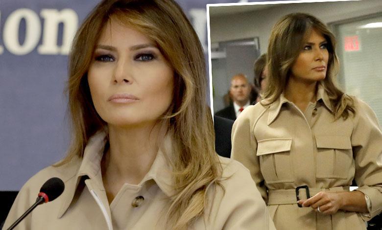 Melania Trump i Donald Trump na spotkaniu Federalnej Agencji Zarządzania Kryzysowego