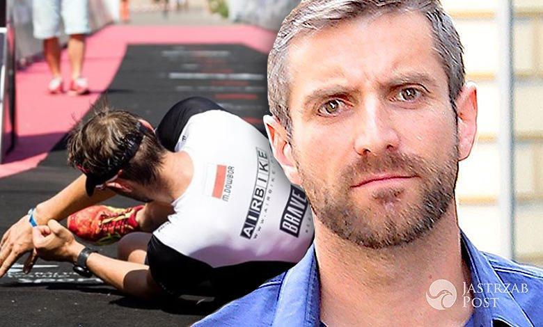 Maciej Dowbor upadł po ukończeniu triatlonu