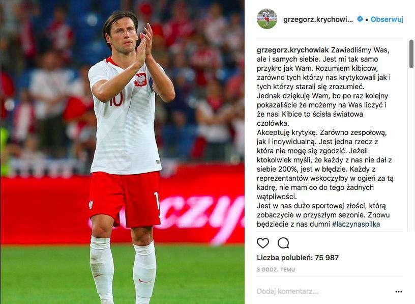 Grzegorz Krychowiak podsumował Mundial 2018