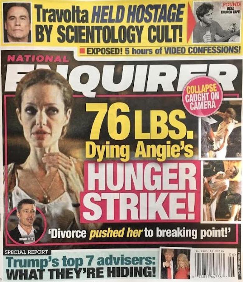 Angelina Jolie umiera – okładka National Enquirer