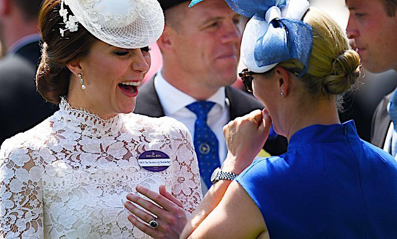Księżna Kate z Zarą Tindall