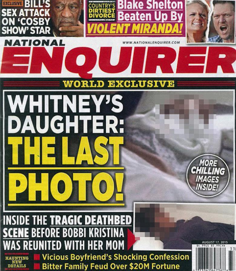 """""""Ostatnie zdjęcia córki Whitney Houston"""" – National Enquirer"""