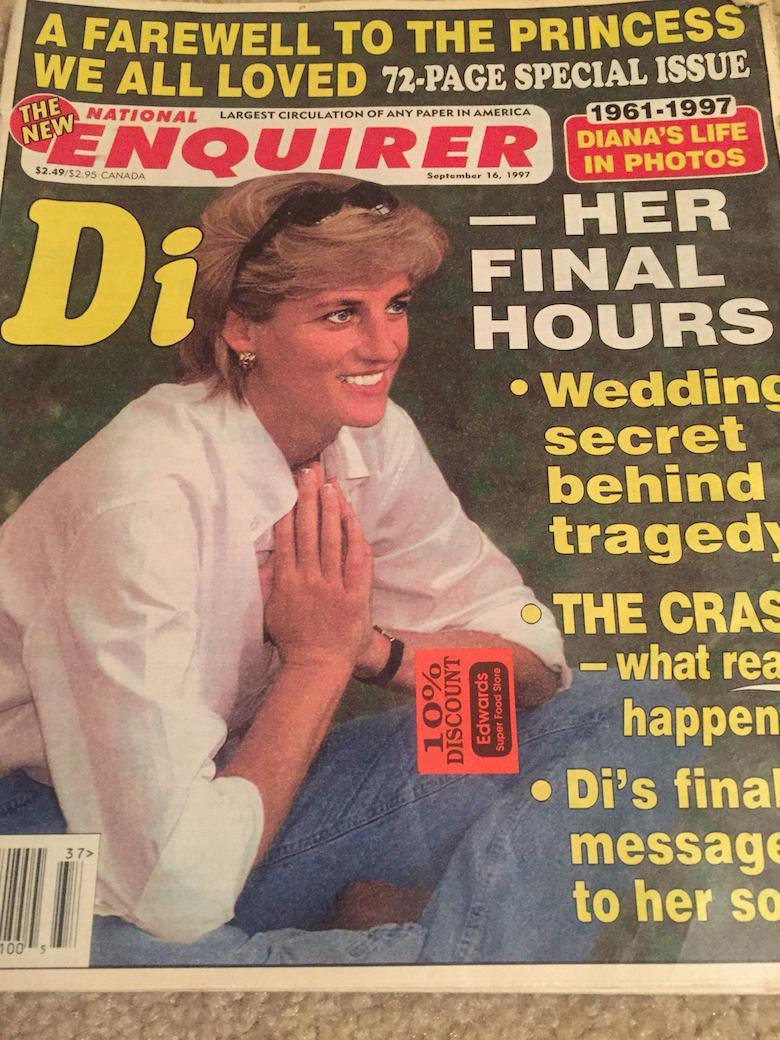 National Enqurirer twierdził, że księżna Diana planowała sekretny ślub po powrocie z Paryża, w którym zginęła w tragicznym wypadku