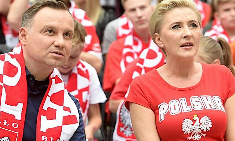 Agata i Andrzej Duda mecz Polska-Senegal