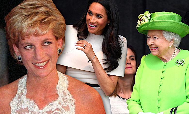 Meghan Markle, księżna Diana, królowa Elżbieta II